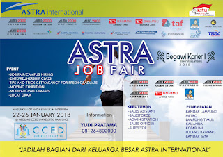 Walk In Interview di Job Fair Campus Hiring di Astra International Gedung Unila Bandar Lampung Januari 2018