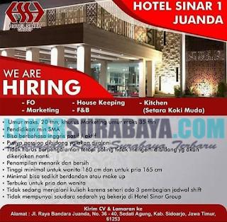 Lowongan Kerja di Hotel Sinar 1 Juanda Sidoarjo Terbaru Mei 2019