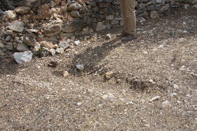 Restos de la excavación en Abánades, Guadalajara