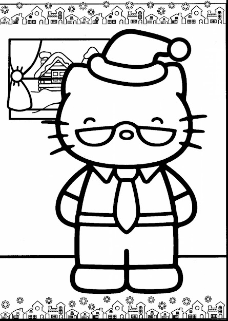 Excellent Hello Kitty Christmas Coloring Pages Forever With Hello Kitty  Christmas Coloring Pages