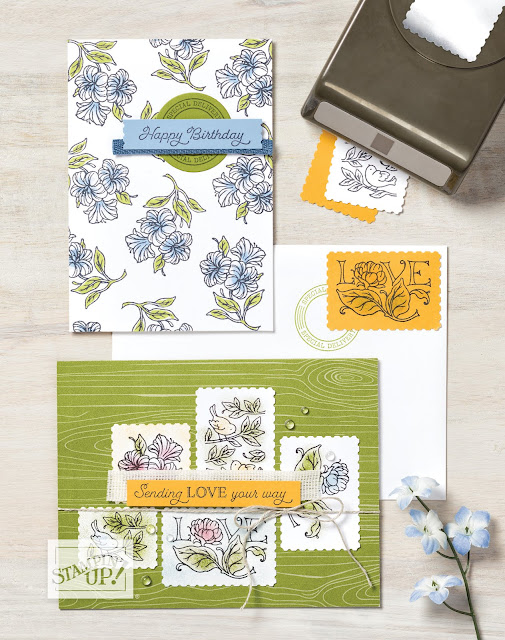 posted for you bundle posted for you stamp set rectangular postage stamp punch 2020 2021 stampin' up! annual catalog nicole steele the joyful stamper independent stampin' up! demonstrator