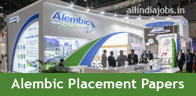 Alembic Pharmaceuticals Placement Papers