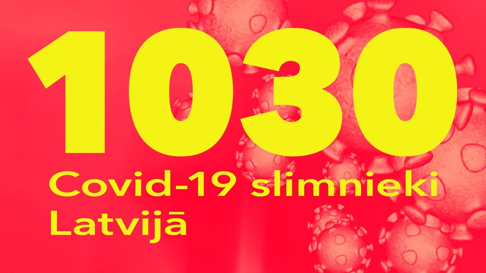 Koronavīrusa saslimušo skaits Latvijā 22.05.2020.