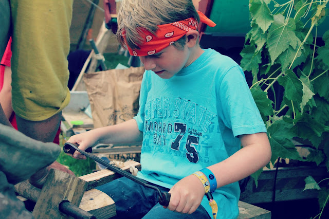 Camp Bestival Spinney Hollow Woodland Workshop Sword Making // 76sunflowers