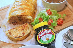 Marmite Chicken Roll in Puff Pastry