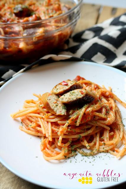 Gluten Free MOR Sausage Spaghetti Bolognese