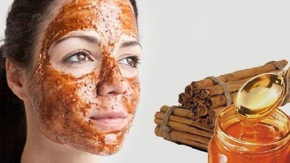 1- قناع القرفة والعسل