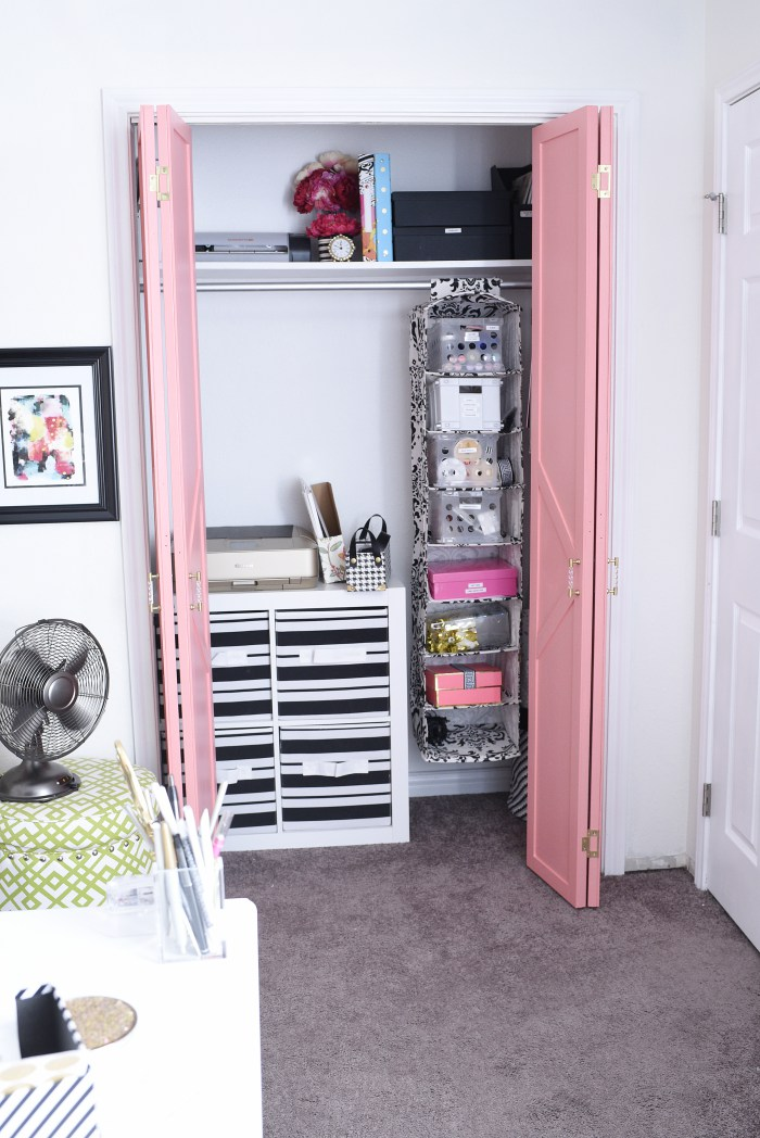 guest roomoffice rubbermaid homefree closet makeover