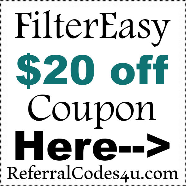 FilterEasy Free Trial Promo Codes 2016-2017, FilterEasy Coupons October, November, December