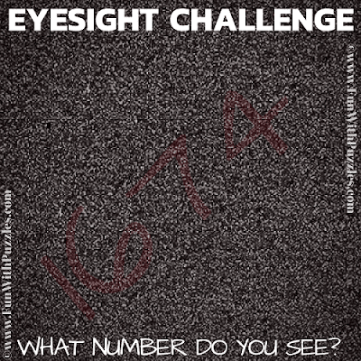 This is eye test puzzle in which one has to find the hidden number in the puzzle image