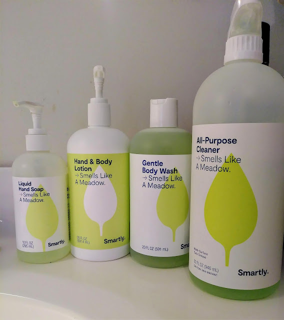 I love the inexpensive Smells Like Meadow line of body care and cleaning products from Target.
