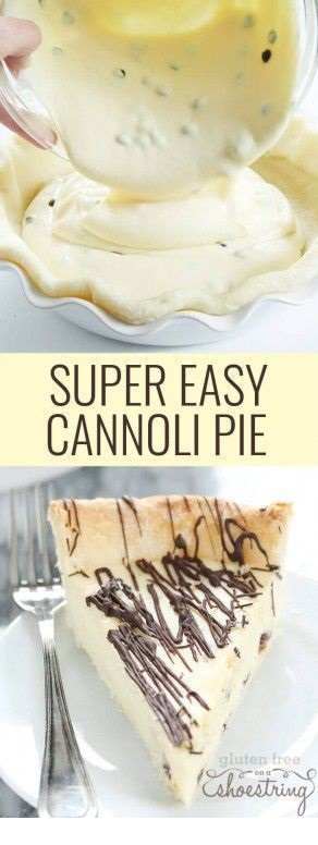 Gluten Free | Super Easy Gluten Free Cannoli Pie