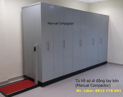 Tủ Hồ Sơ Di Động Compactor Tay Đẩy