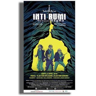 "Pentas teater El-Na'ma ""INTI BUMI"" menuju MAGMA di gedung kesenian Kaliandra Cirebon"
