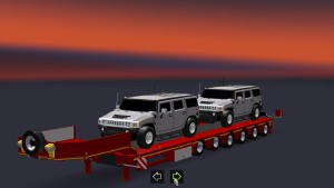 Trailer With 2 Hummers