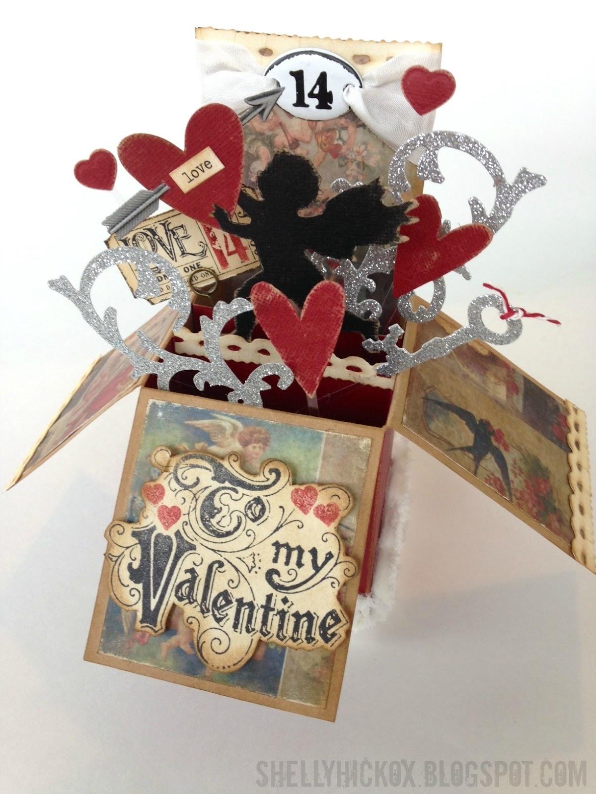 stamptramp to my valentine  popup box card