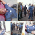 SHOCKING PICTURES!! Graphic Photos Of Armed Robber Shot Dead Today By Police At Zenith Bank, Owerri