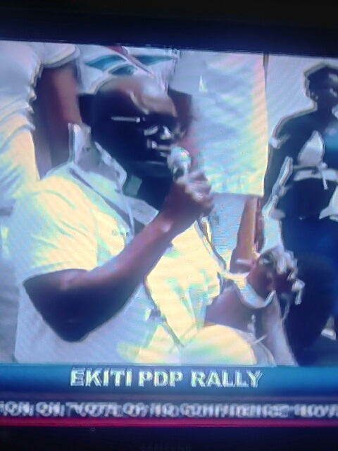 Fayose In Drip & Bandages While Addressing Ekiti People After Police Teargassed Him [Photos]