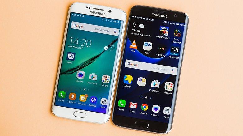 Ada perbedaan nyata dalam tampilan antara dua ponsel