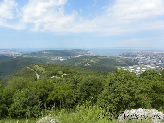 panorama  dal Castello di San Servolo in Slovenia