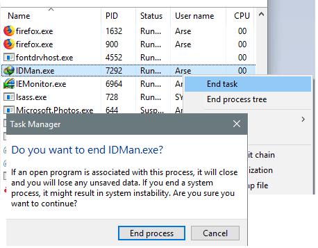 cara mematikan idm lewat task manager
