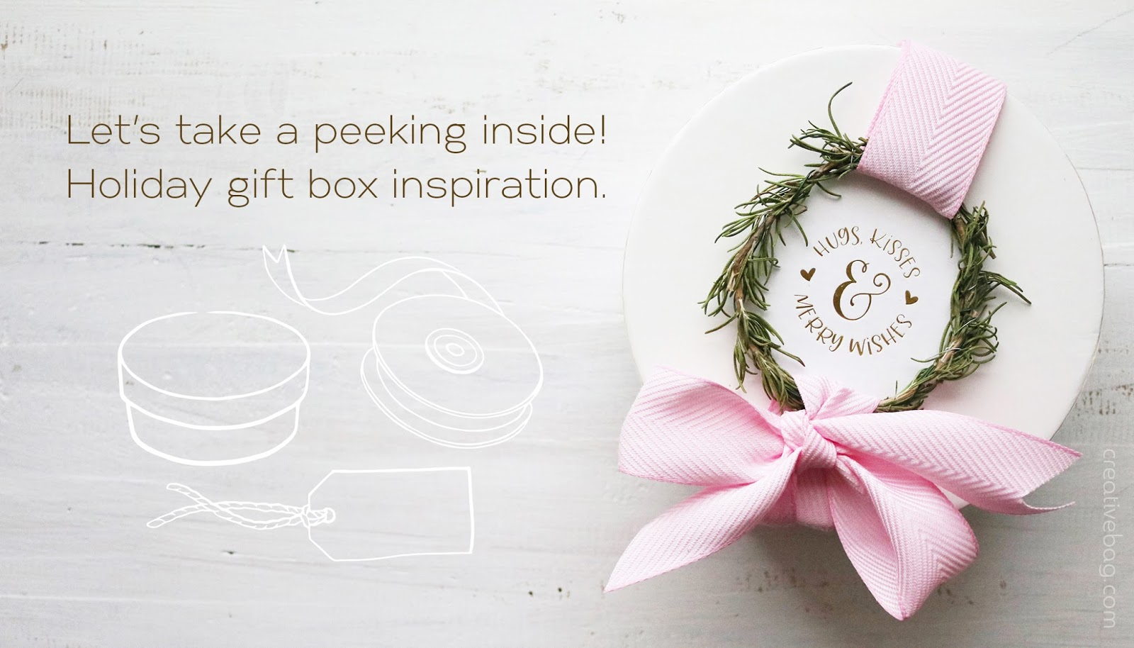 gift box packaging inspiration for holiday gift giving | creativebag.com