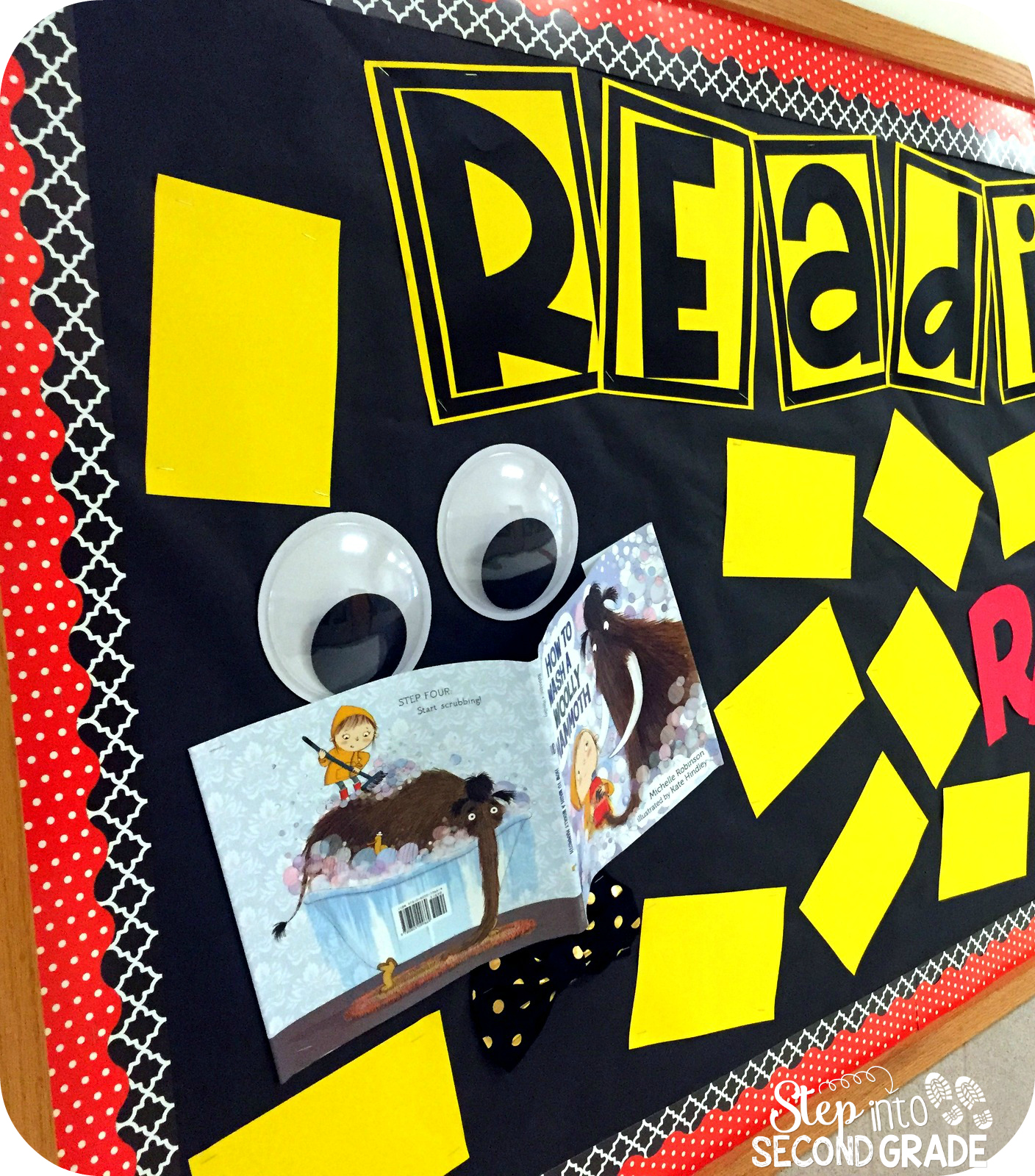 Classroom Reading Ideas ~ Step into nd grade with mrs lemons reading bulletin board