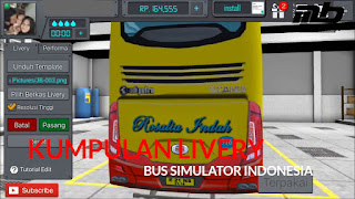 Download Kumpulan Livery Bus Simulator Indonesia (BUSSID) Terbaru 2018