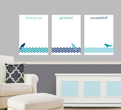 whiteboard to-do vinyl wall decals - set of three