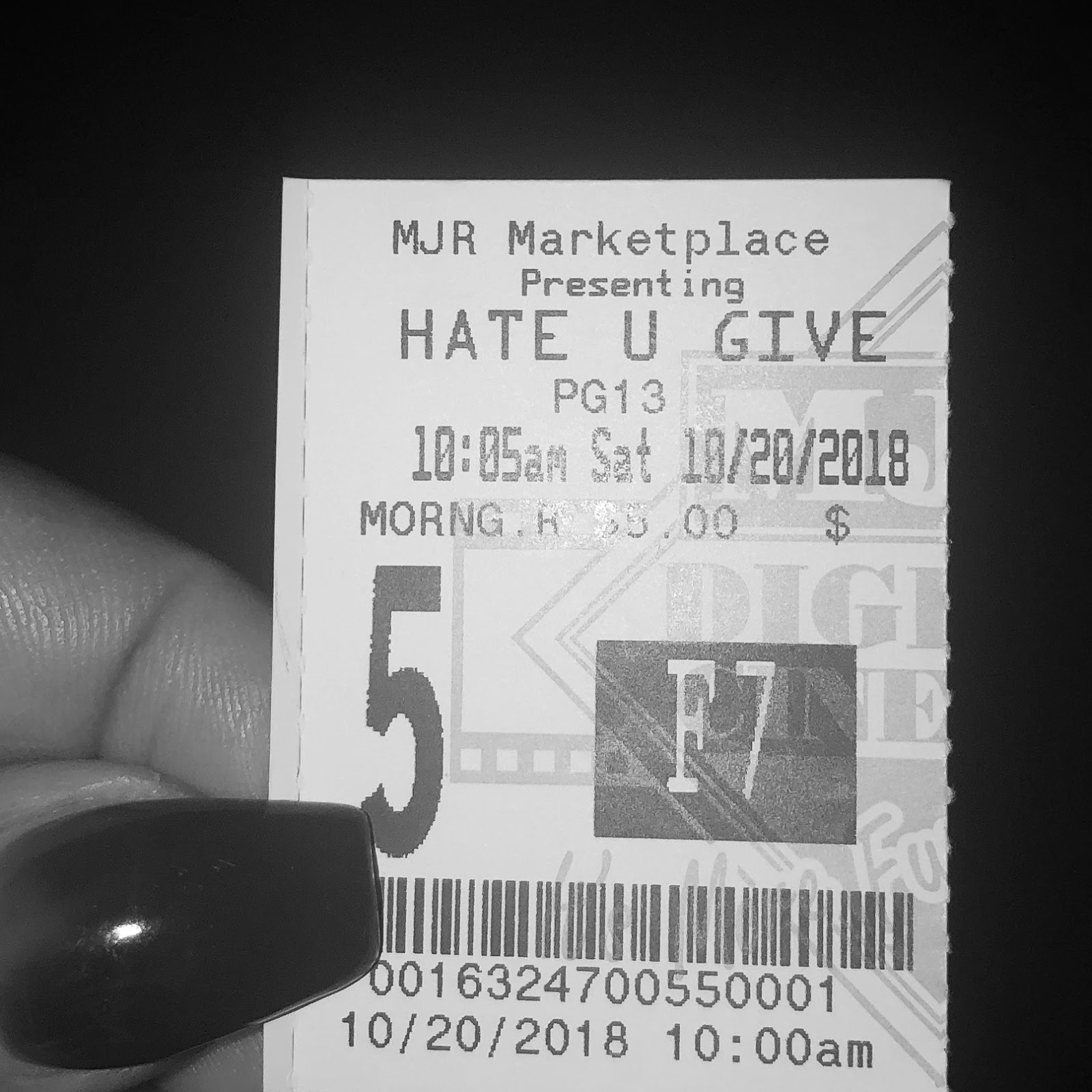 Literary Marie Lit To Movie Review The Hate U Give