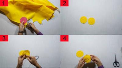 Cara Membuat Gantungan Kunci Emoticon dari Kain Flanel