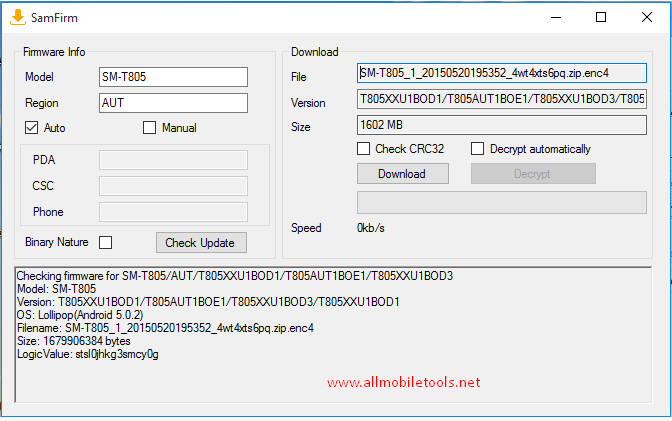 SamFirm-Samsung Firmware Downloader Tool Latest Version Free Download