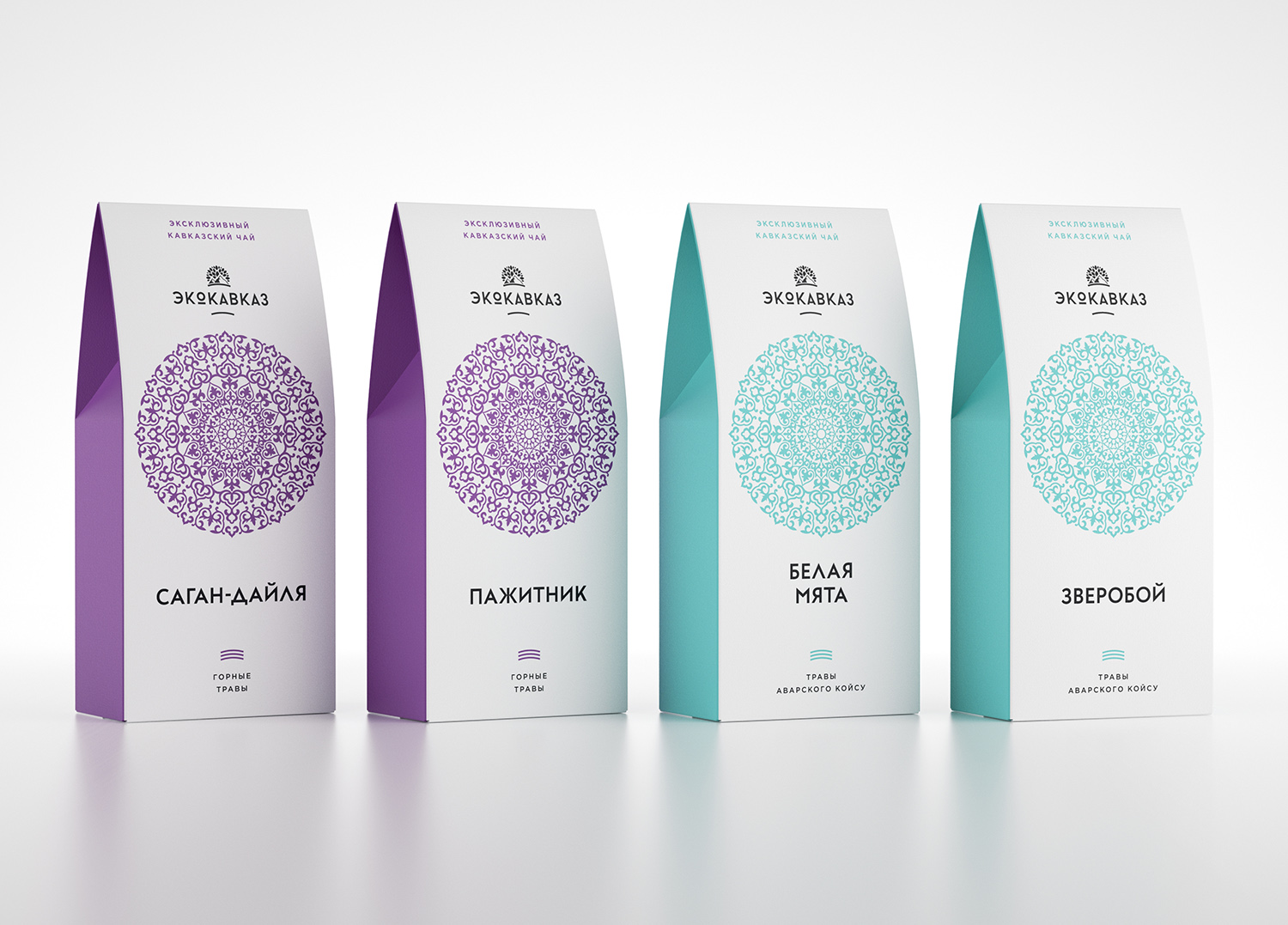ecokavkaz herbal tea on packaging of the world creative package