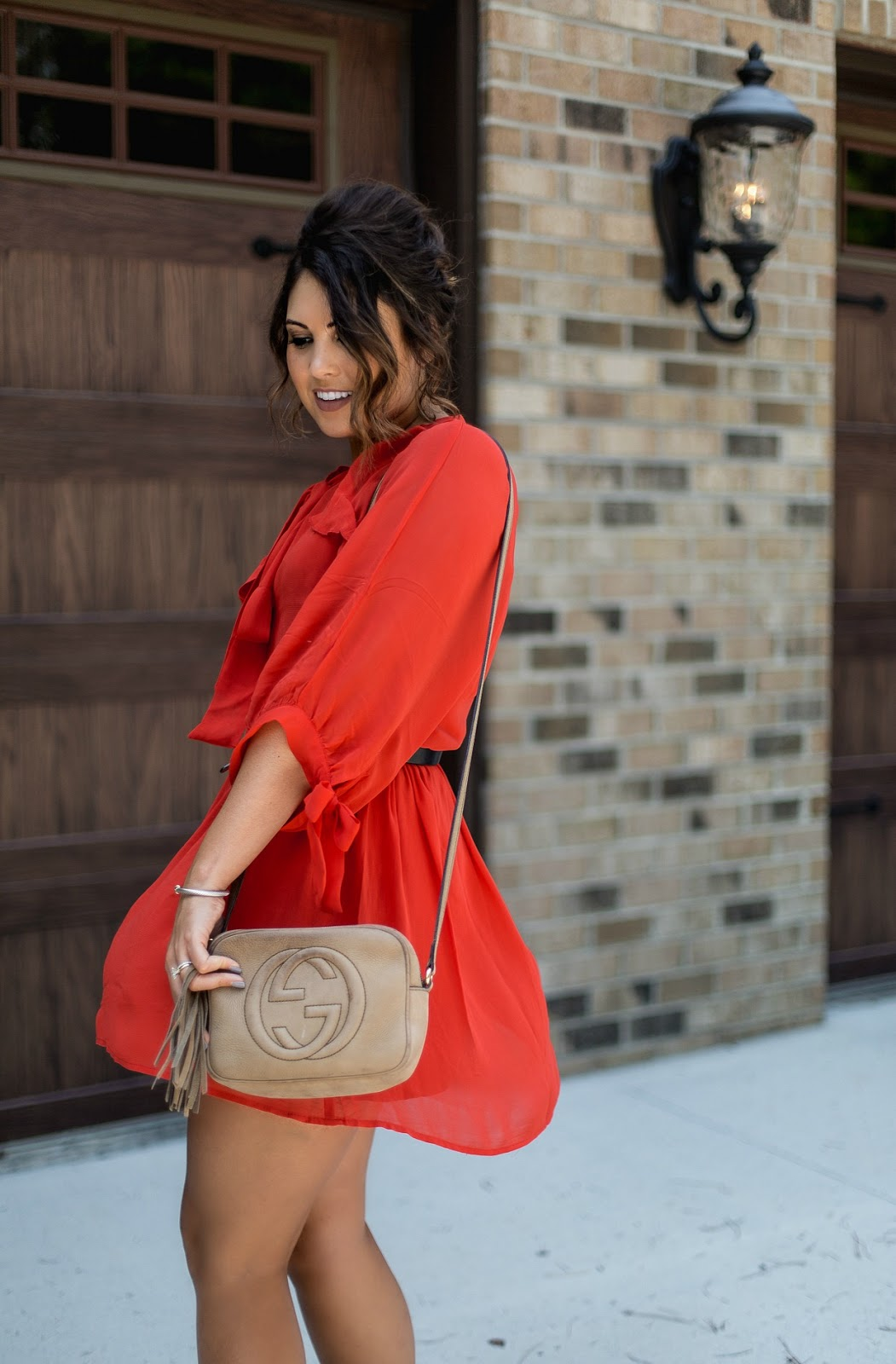 asos mango red dress