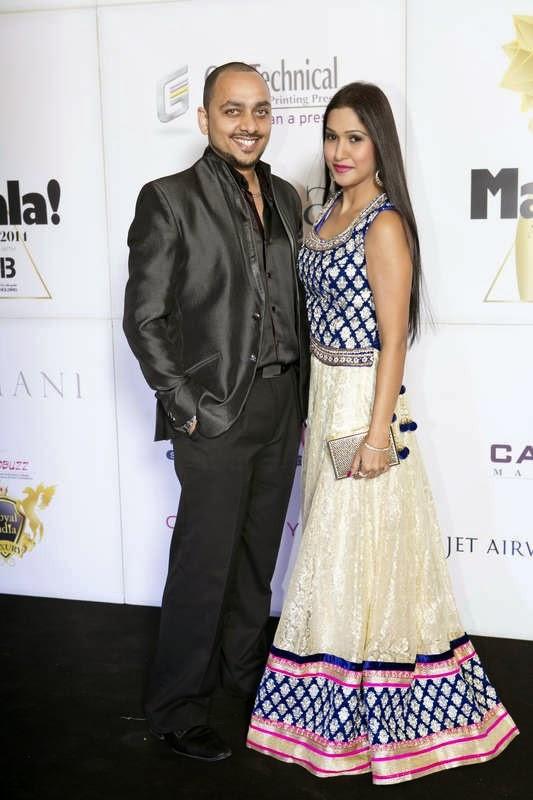 Ritchie Thomas and Nadia Siddiqui, Masala! Awards 2014 Photo Gallery