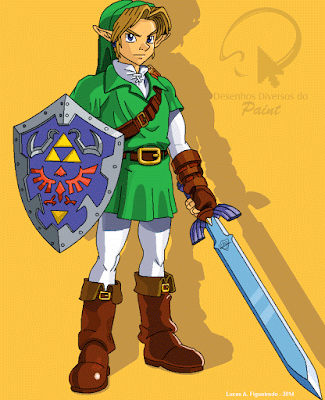 Link desenhado no Paint