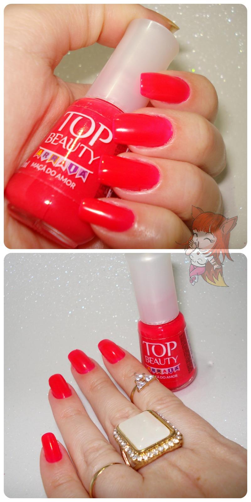 Esmalte Top Beauty :: Maçã do Amor - Resenha