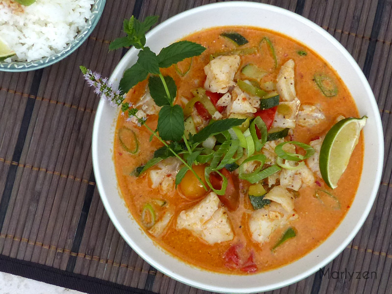 Curry rouge de poisson