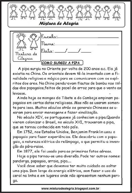Folclore Brasileiro A Origem Da Pipa Leitura E