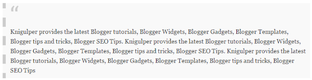 Blogger Blockquote widget style 1