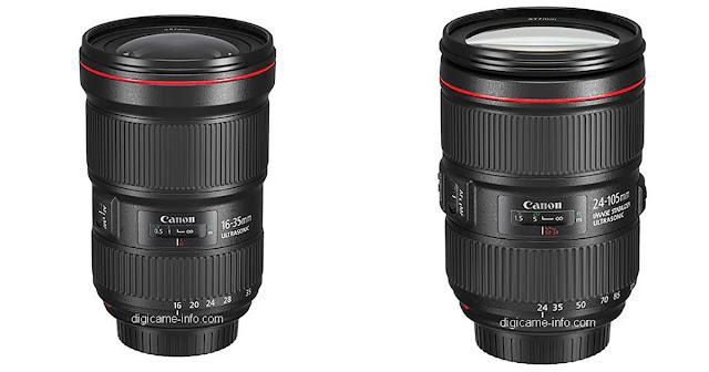 Fotografia del Canon 16-35mm f/2.8L e del 24-105mm f/4