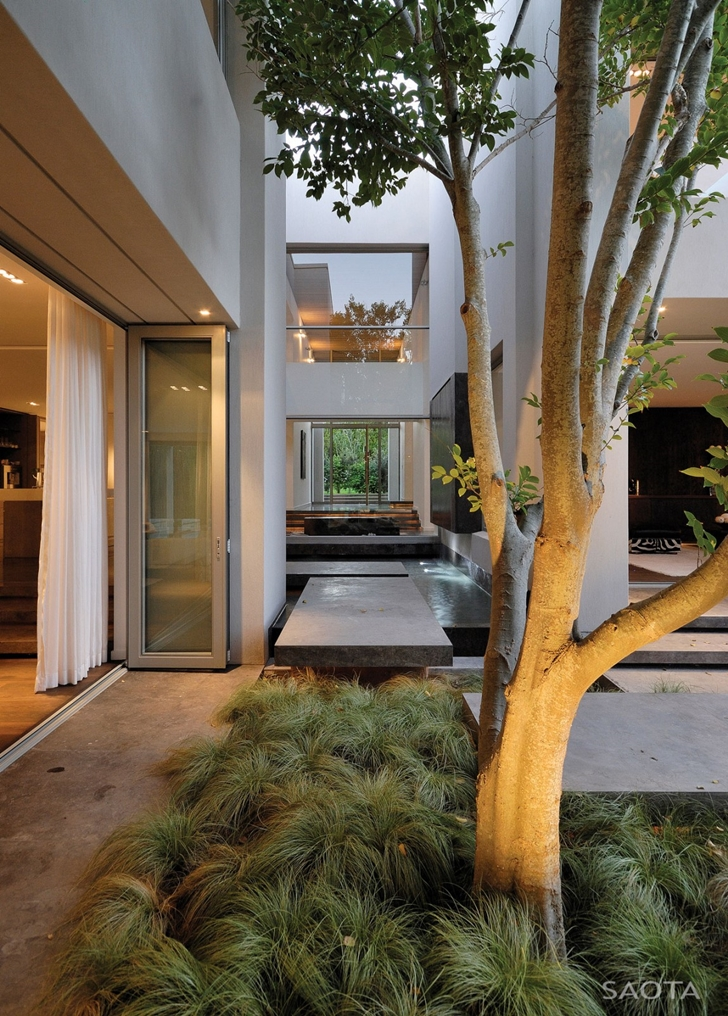 Vegetation and architecture of Contemporary Villa by SAOTA