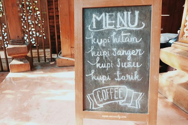 menu di kopi selasar kemang