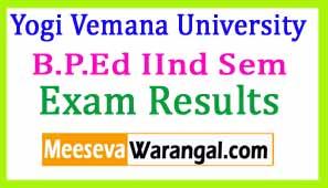 Yogi Vemana University B.P.Ed IInd Sem July 2016 Eamination Results