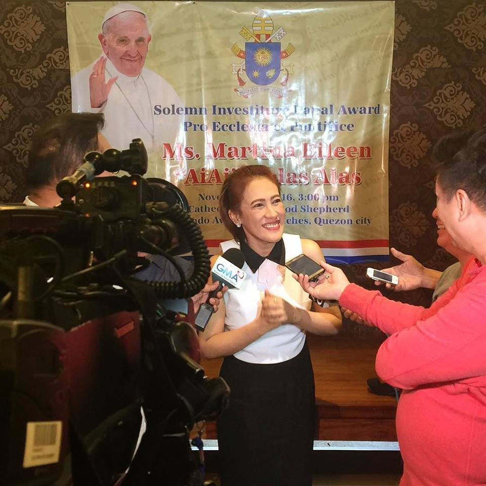 AiAi Delas Alas granted the Papal medal