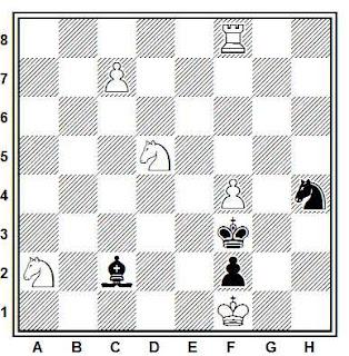 Estudio artístico de ajedrez compuesto por A. Wotawa (Deutsche Schachzeitung 1965)