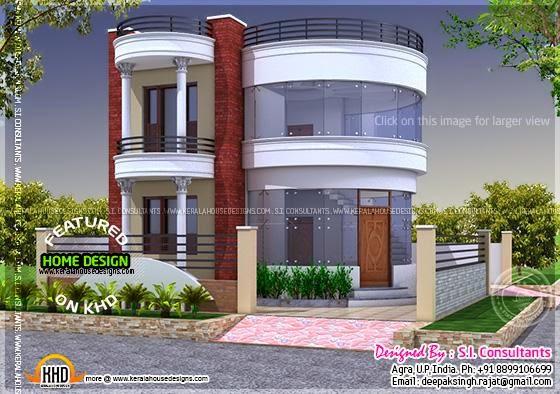 Rajat 3d Wallpaper Round House Design Kerala Home Design Bloglovin