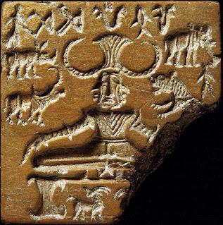 Pashupati seal depicting Shiva as a meditating yogi