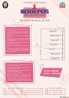 Kompetisi Desain dan Poster UKM Peduli Napza UNDIP