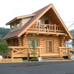 Contoh rumah berdinding kayu